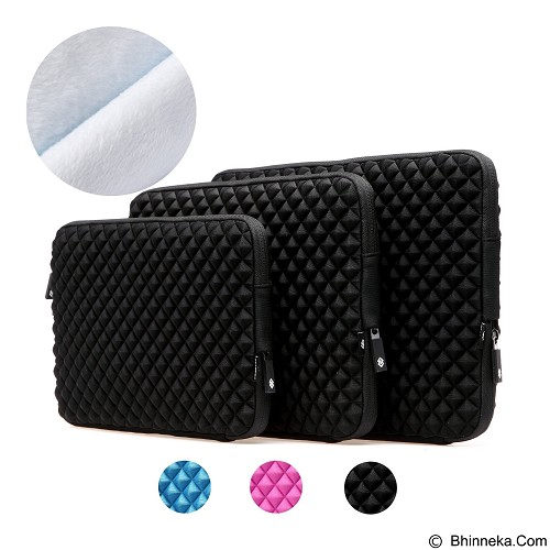 GEARMAX Diamond Lycra Fabric Bag for Laptop 11.6 - 12 Inch [GM1703] - Black (Merchant) - Notebook Sleeve