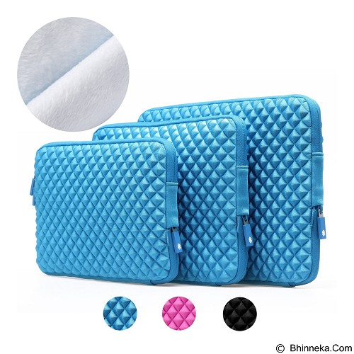 GEARMAX Diamond Lycra Fabric Bag for Laptop 13.3 Inch [GM1703] - Blue (Merchant) - Notebook Sleeve