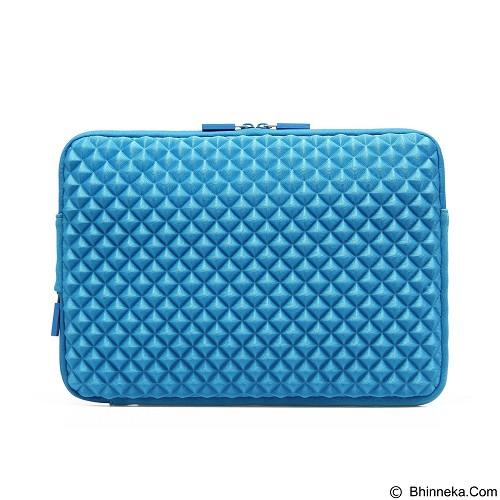 GEARMAX Diamond Lycra Fabric Bag for Laptop 15.4 Inch [GM1703] - Blue (Merchant) - Notebook Sleeve