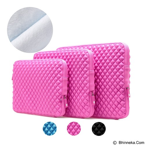 GEARMAX Diamond Lycra Fabric Bag for Laptop 15.4 Inch [GM1703] - Pink (Merchant) - Notebook Sleeve
