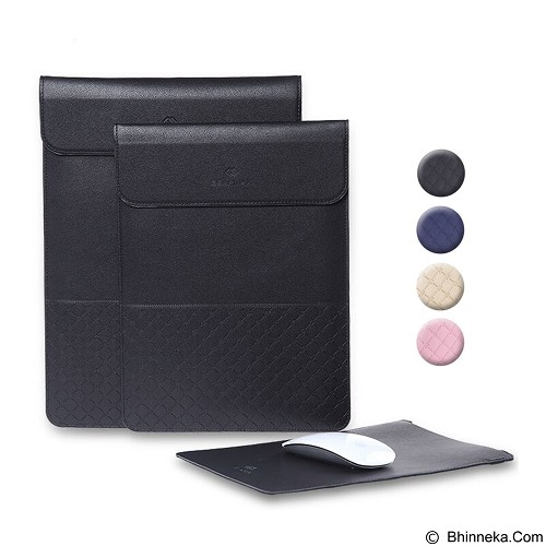 GEARMAX Leather Laptop Case Cover Sleeve Bag 15.4 Inch [GM4028] - Black (Merchant) - Notebook Sleeve