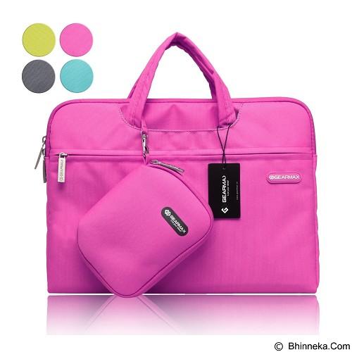GEARMAX Waterproof Canvas Oxford Laptop Sleeve Case Bag 15.4 Inch [GM3910] - Pink (Merchant) - Notebook Shoulder / Sling Bag
