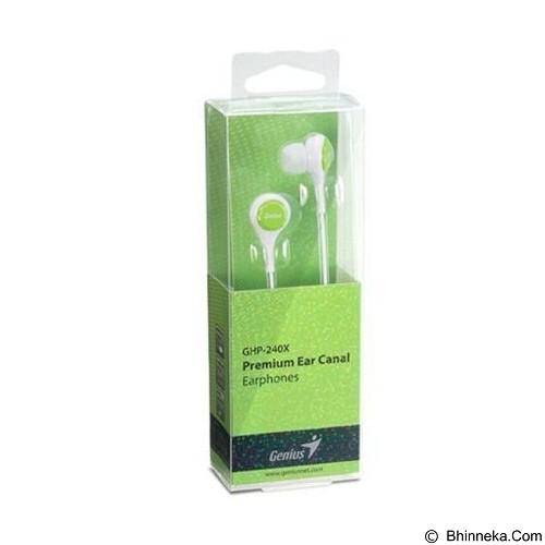 GENIUS Earphone [GHP-240X] - Green (Merchant) - Earphone Ear Monitor / Iem
