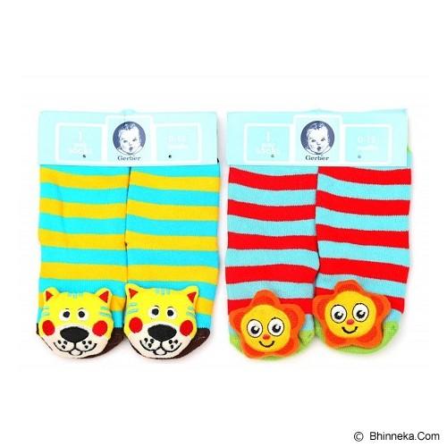 GERBER Rattle Socks Lion and Sun [0-12M] - Kaos Kaki Bayi dan Anak