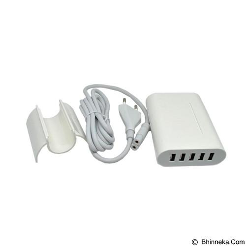 GFGADGET 5 Ports USB Charger Travel Adapter 40W 8A (EU Plug) - White (Merchant) - Charger Handphone