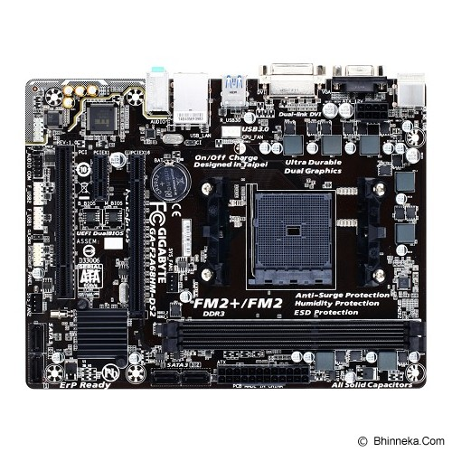GIGABYTE Motherboard Socket FM2+ [GA-F2A68HM-DS2] - Motherboard Amd Socket Fm2 / Fm2+