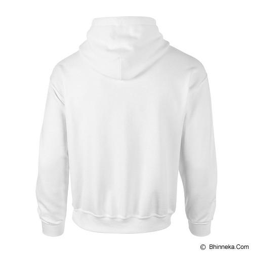 GILDAN Heavy Blend Adult Hooded Sweatshirt 88500 Size XL - White (V) - Sweater / Cardigan Pria