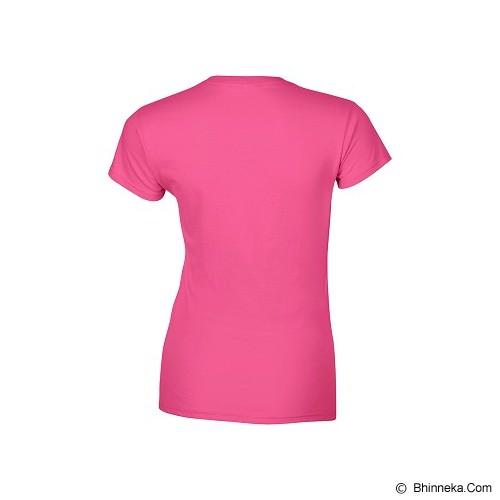 GILDAN Ladies T-Shirt 76000L Premium Cotton Size L - Heliconia (V) - Kaos Wanita