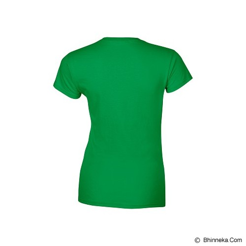 GILDAN Ladies T-Shirt 76000L Premium Cotton Size L - Irish Green (V) - Kaos Wanita