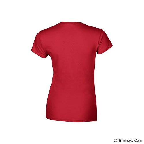 GILDAN Ladies T-Shirt 76000L Premium Cotton Size L - Red (V) - Kaos Wanita