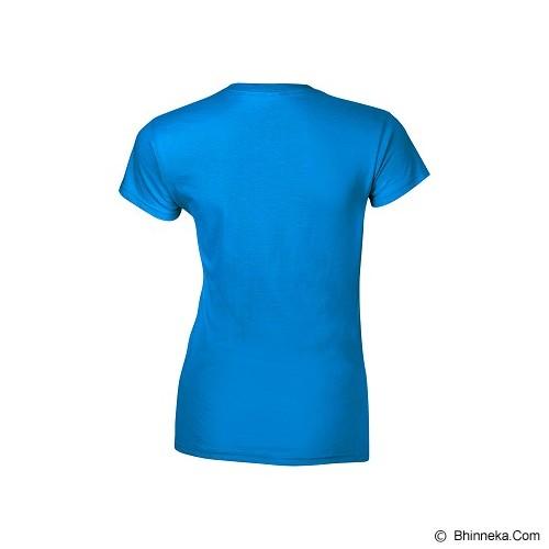 GILDAN Ladies T-Shirt 76000L Premium Cotton Size L - Sapphire (V) - Kaos Wanita