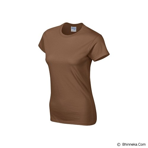 GILDAN Ladies T-Shirt 76000L Premium Cotton Size M - Chesnut (V) - Kaos Wanita