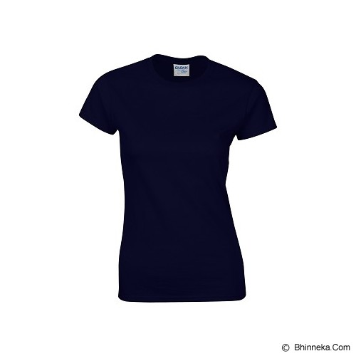 GILDAN Ladies T-Shirt 76000L Premium Cotton Size M - Navy (V) - Kaos Wanita