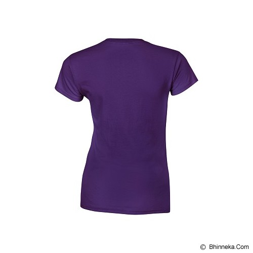GILDAN Ladies T-Shirt 76000L Premium Cotton Size M - Purple (V) - Kaos Wanita