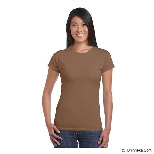 GILDAN Ladies T-Shirt 76000L Premium Cotton Size S - Chesnut (V) - Kaos Wanita