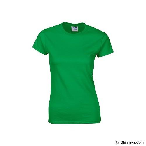 GILDAN Ladies T-Shirt 76000L Premium Cotton Size S - Irish Green (V) - Kaos Wanita
