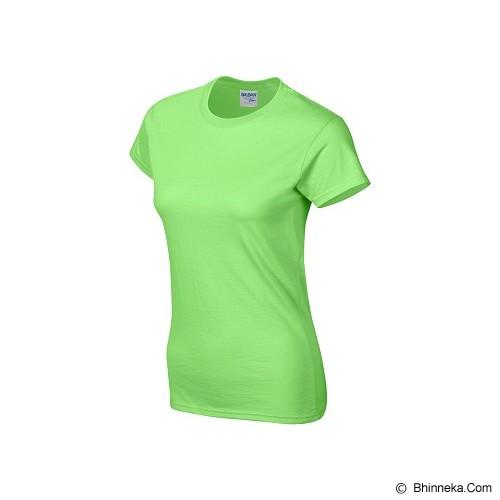 GILDAN Ladies T-Shirt 76000L Premium Cotton Size S - Lime (V) - Kaos Wanita
