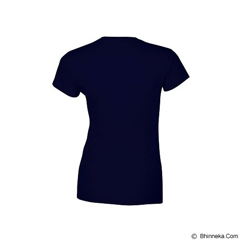 GILDAN Ladies T-Shirt 76000L Premium Cotton Size S - Navy (V) - Kaos Wanita