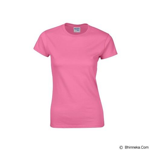GILDAN Ladies T-Shirt 76000L Premium Cotton Size XL - Azalea (V) - Kaos Wanita