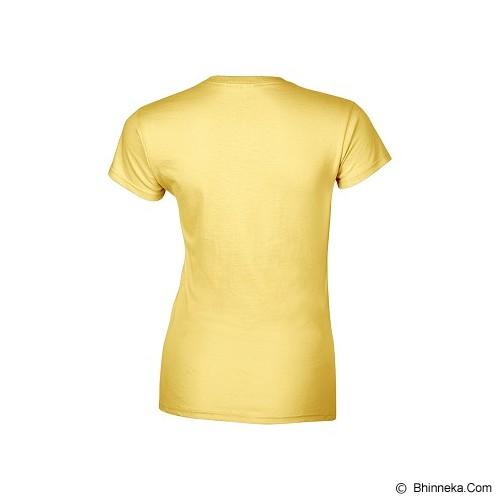GILDAN Ladies T-Shirt 76000L Premium Cotton Size XL - Daisy (V) - Kaos Wanita
