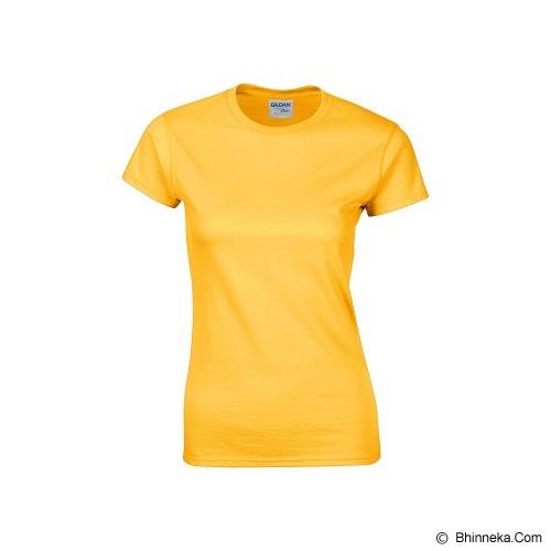 GILDAN Ladies T-Shirt 76000L Premium Cotton Size XL - Gold (V) - Kaos Wanita