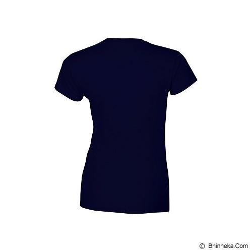 GILDAN Ladies T-Shirt 76000L Premium Cotton Size XL - Navy (V) - Kaos Wanita