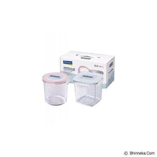 GLASSLOCK Container Set 2pcs - Media Penyimpanan Susu dan Makanan Bayi