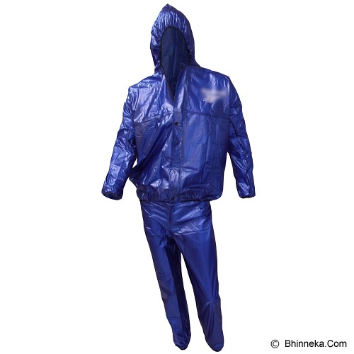 GO FITS Mantel Training Raincoat - Biru - Jas Hujan