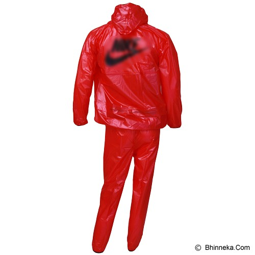 GO FITS Mantel Training Raincoat - Merah - Jas Hujan