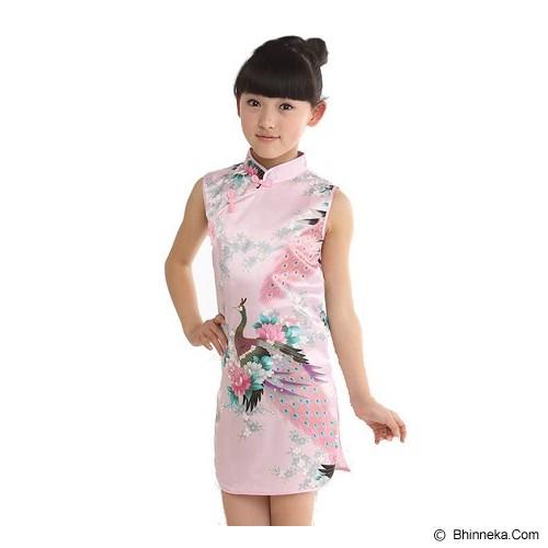 GOODSTORY CNY Chinese Dress Cheongsam Qibao Size 10 - Soft Pink - Dress Bepergian/Pesta Bayi dan Anak