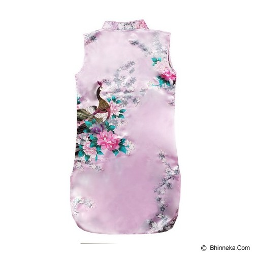 GOODSTORY CNY Chinese Dress Cheongsam Qibao Size 10 - Soft Pink - Dress Bepergian/Pesta Bayi dan Anak