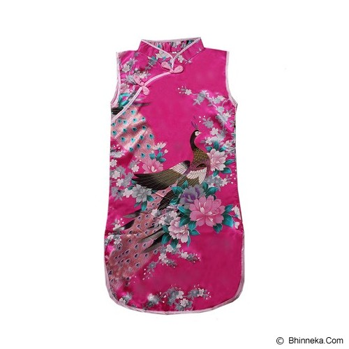 GOODSTORY CNY Chinese Dress Cheongsam Qibao Size 12 - Dark Pink - Dress Bepergian/Pesta Bayi dan Anak