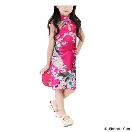 GOODSTORY CNY Chinese Dress Cheongsam Qibao Size 12 - Dark Pink - Dress Bepergian/Pesta Bayi dan Anak