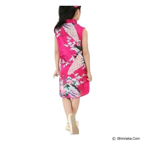 GOODSTORY CNY Chinese Dress Cheongsam Qibao Size 8 - Dark Pink - Dress Bepergian/Pesta Bayi dan Anak