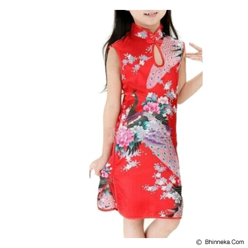 GOODSTORY CNY Chinese Dress Cheongsam Qibao Size 8 - Red - Dress Bepergian/Pesta Bayi dan Anak