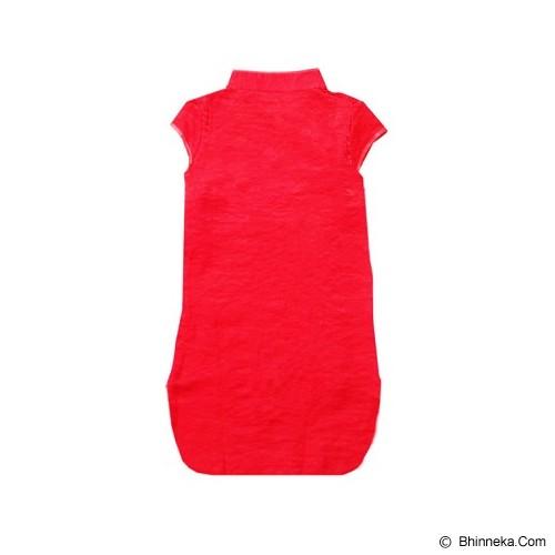 GOODSTORY CNY Chinese Dress Cheongsam Qibao Size 10 - Golden Peacock Red - Dress Bepergian/Pesta Bayi dan Anak