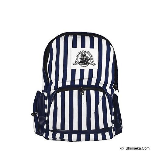 GOOLALI Ransel Strip Sailor 2153 [T248-2] - Biru/Putih - Backpack Wanita