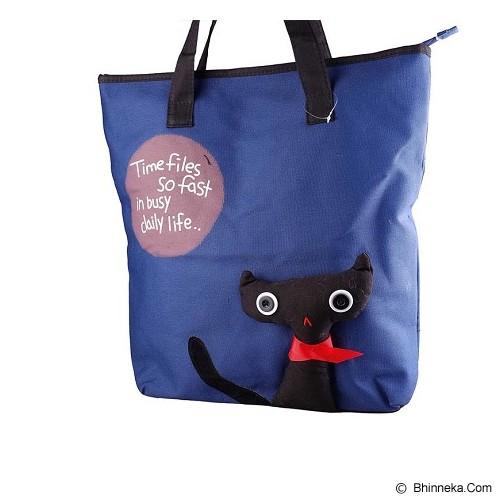 GOOLALI Tas Jinjing Black Cat [T215-3] - Biru Tua - Tote Bag Wanita