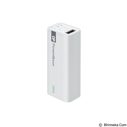GP BATTERIES Powerbank 1 Series 2600mAh [GPACC1C02000] - White - Portable Charger / Power Bank