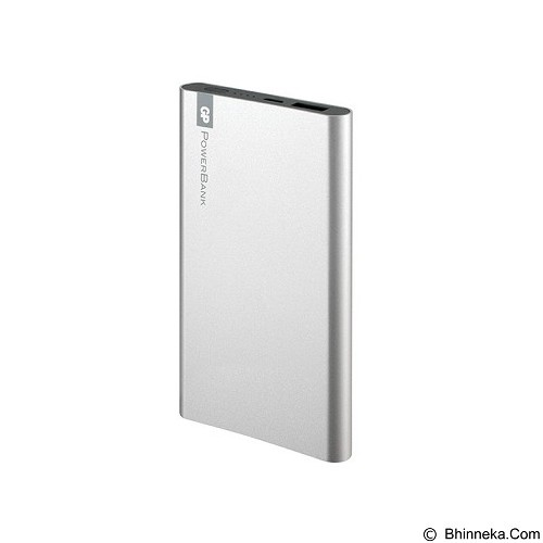 GP BATTERIES Powerbank  FT Series 5000mAh [GPFP05MSE-2B1] - Silver - Portable Charger / Power Bank
