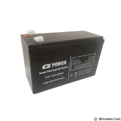 GPOWER UPS Option Battery 7.2AH [10001] (Merchant) - Battery Charger Otomotif / Cas Aki