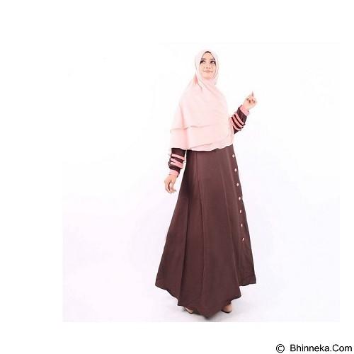 GREENISM Abaya Syakira Colour Size M - Chocolate (Merchant) - Gamis Wanita