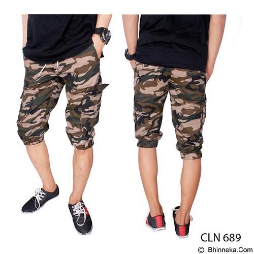 GUDANG FASHION Army Jogger Pants Motif Loreng Size 28 [CLN 689-28] - Celana Pendek Pria