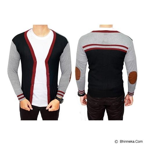 GUDANG FASHION Cardigan Male Fashion [CAR 494-A] - Hitam - Sweater / Cardigan Pria
