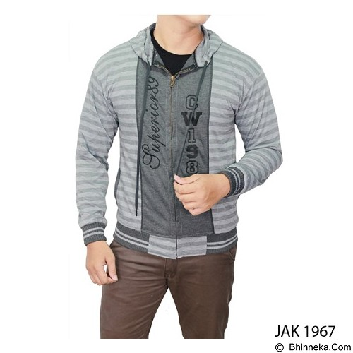 GUDANG FASHION Casual Jackets For Men [JAK 1967-A] - Grey - Jaket Casual Pria