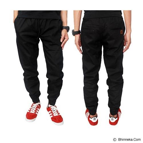 GUDANG FASHION Celana Chino Jogger Size 27 [CLN 586-27] - Hitam - Celana Panjang Pria