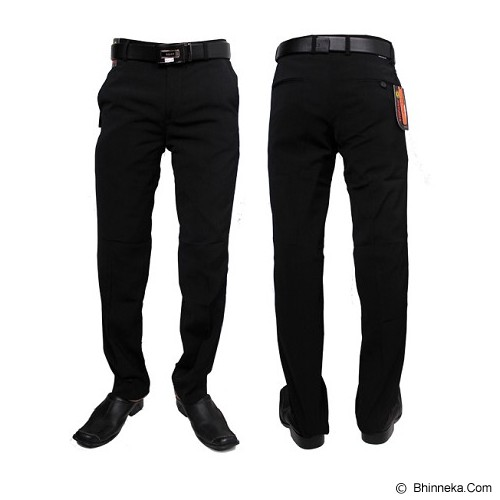 GUDANG FASHION Celana Kerja Size 30 [CLN 453-30] -Hitam - Celana Panjang Pria