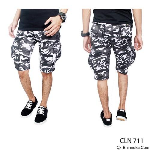 GUDANG FASHION Celana Pendek Kargo Pria Motif Loreng Size 28 [CLN 711-28] - Grey White - Celana Pendek Pria