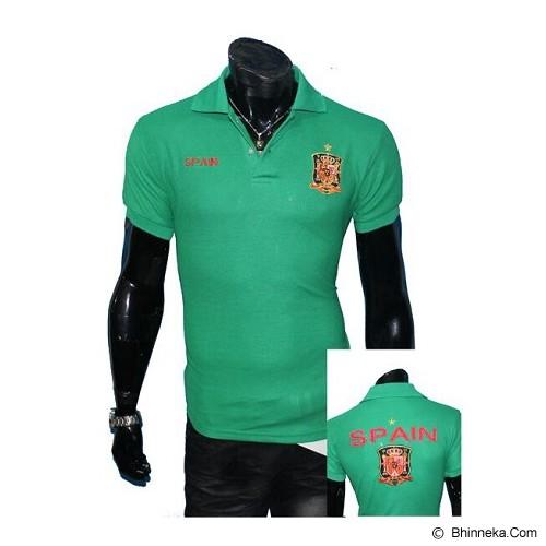 GUDANG FASHION Fashion Kaos Kerah Bola Spain Simple [BOL 640] - Hijau - Polo Pria