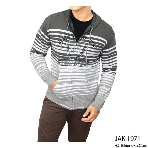 GUDANG FASHION Jackets For Mens [JAK 1971-A] - Grey Combination - Jaket Casual Pria